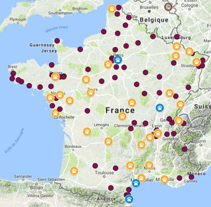 Cartes refuges partenaires_Accueils 2017